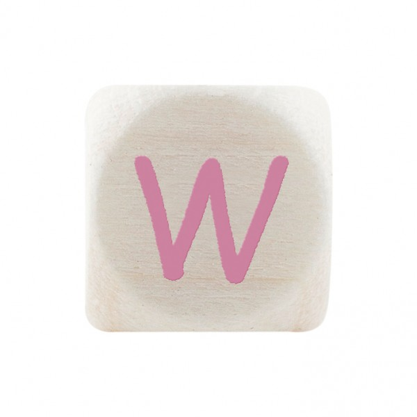 Premiumbuchstabe 10 mm rosa W