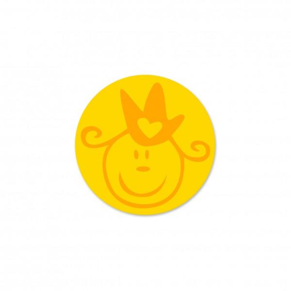 Ausverkauf Motivperle Prinzessin horizontal maisgelb/mittelorange