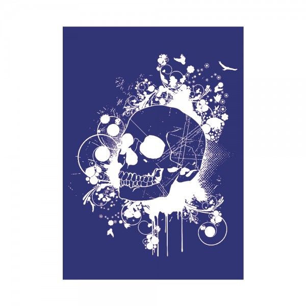 Schablone A4, Skull