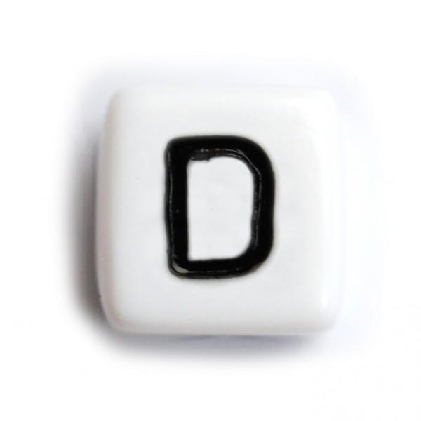 Kunststoffbuchstabenwürfel 10 mm einzeln D