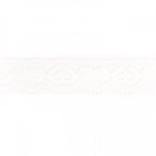 Angebot Elastische Spitzenbordüre Herzen weiß (3 cm breit)
