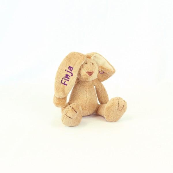 Minihase mit Wunschname violett (Modell Finja)