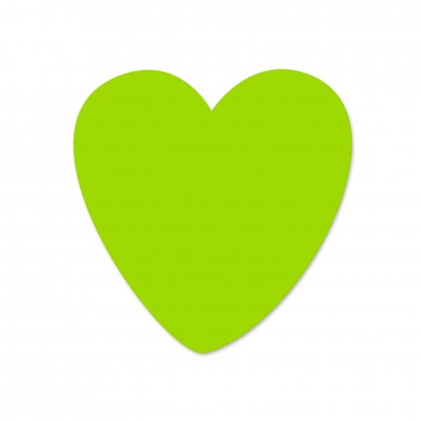 Ausverkauf Motivperle Herz vertikal apfelgrün