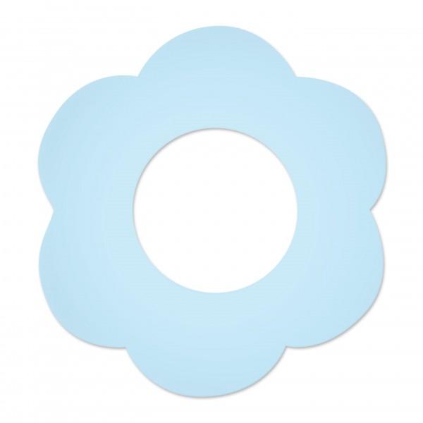 Motivperle Blume gross horizontal babyblau