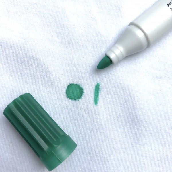 Stoffmalstift dicke Spitze dunkelgrün