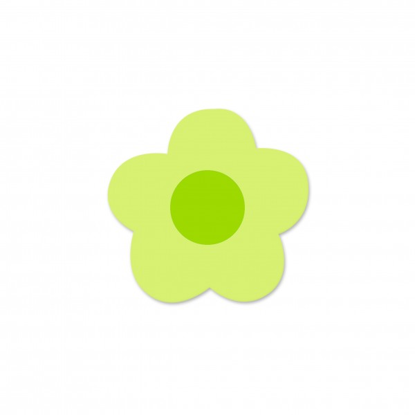 Motivperle Mini-Blume horizontal lemon/apfelgrün