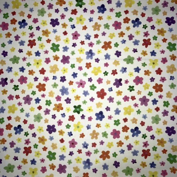 Sale: Baumwollstoff Digitaldruck Blumen allover