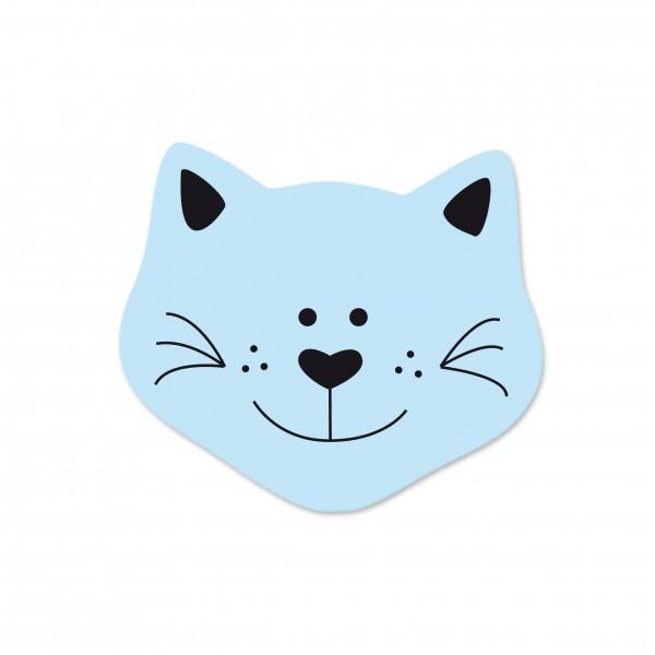 Ausverkauf Motivperle Mini-Katze vertikal babyblau