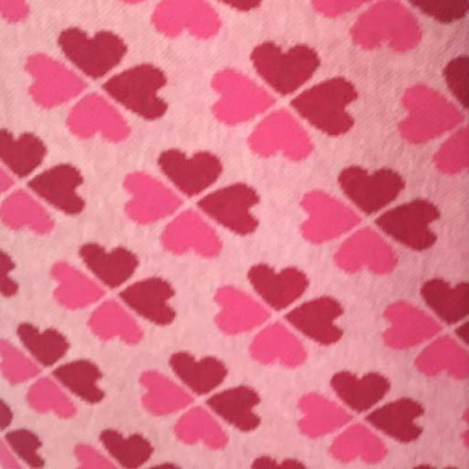 Jacquardjersey Tender Kiss - Kleeherzen rosa/pink, Hamburger Liebe by Albstoffe