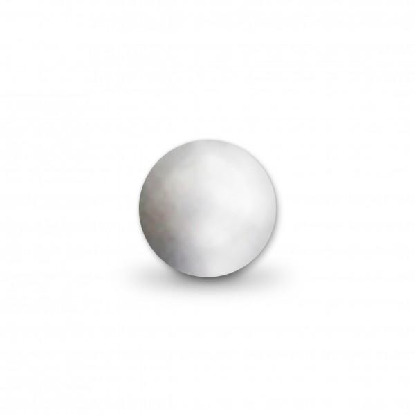 Uniperlen 10 mm silber