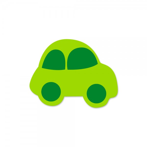 Motivperle Auto horizontal apfelgrün/mittelgrün