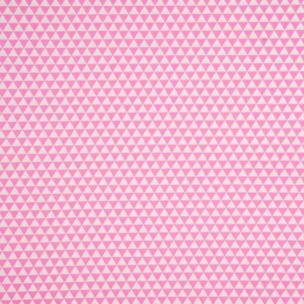 Reststück 60cm Cotton Poplin mit dreieckiger Musterung in rosa