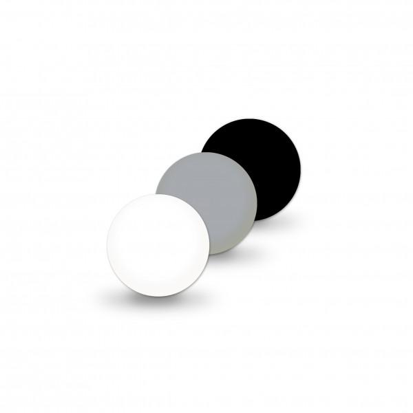 Uniperlen 8 mm grau-mix