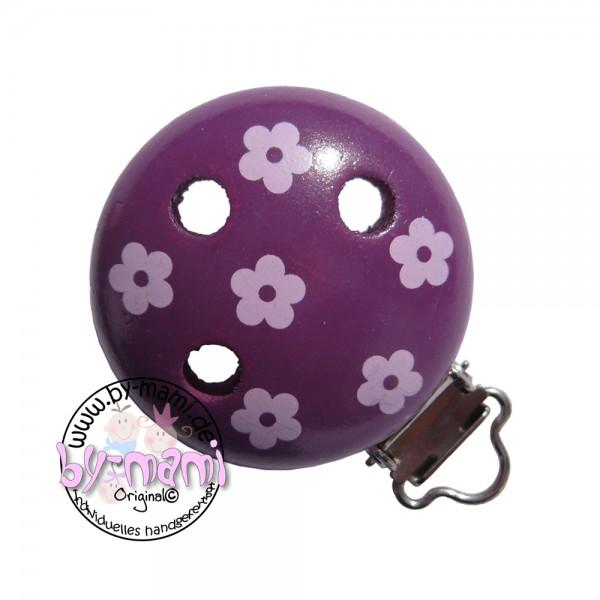 Motivclip I Blümchen violett/babyrosa