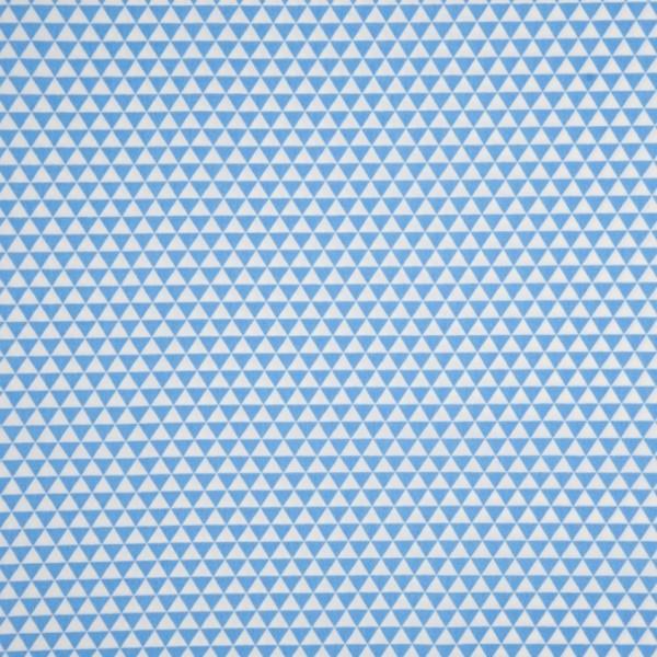 Cotton Poplin mit dreieckiger Musterung in blau