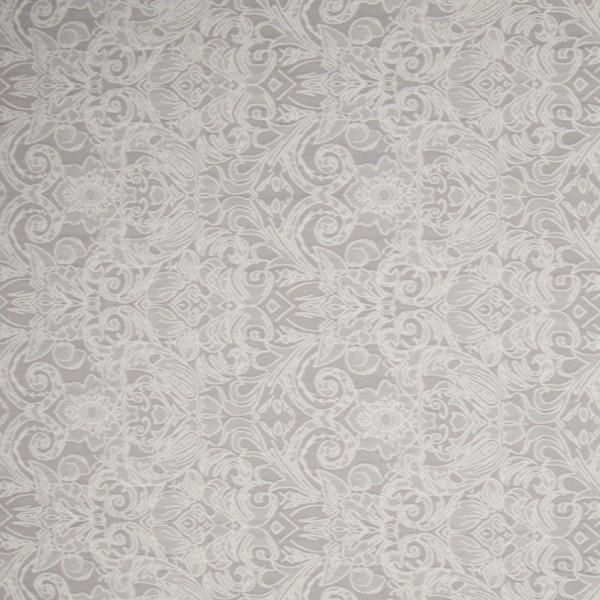 Reststück 85cm Bengaline Jacquard-Stretch ecru/taupe