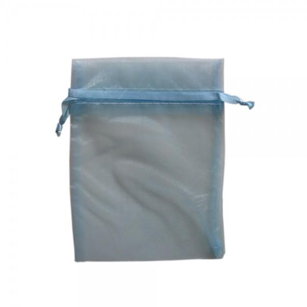 Organzasäckchen 15 x 10 cm babyblau