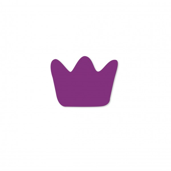 Ausverkauf Motivperle Mini-Krone horizontal violett