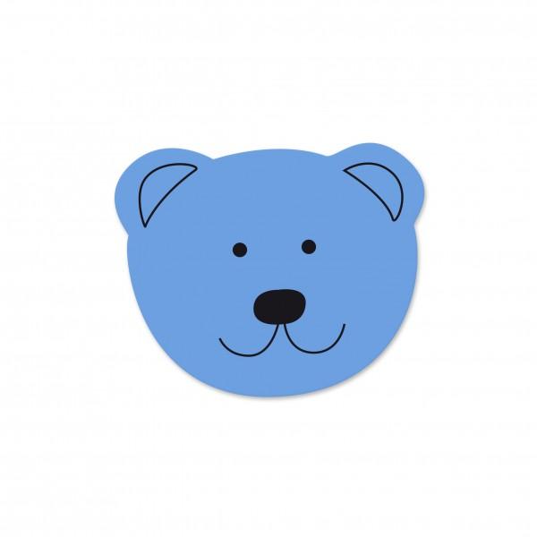 Ausverkauf Motivperle Mini-Bär horizontal hellblau