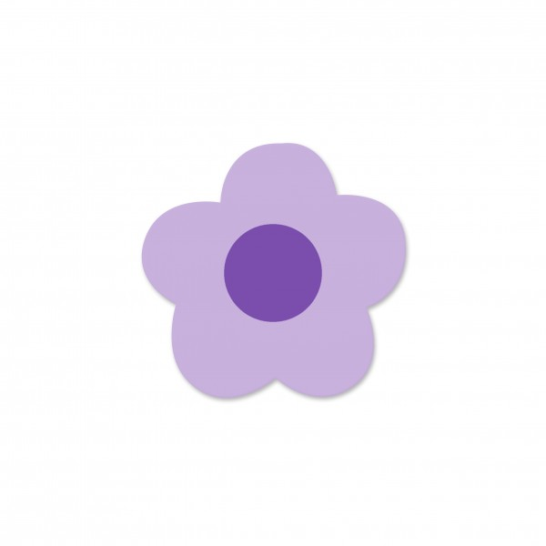 Motivperle Mini-Blume horizontal flieder/lila