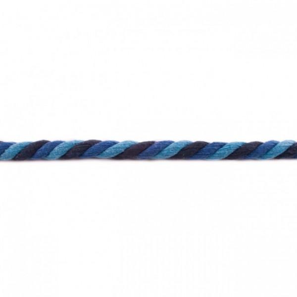 gedrehte Maxi-Kordel 12 mm mehrfarbig hellblau/royalblau/marine