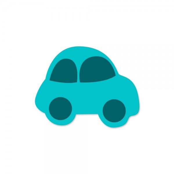 Ausverkauf Motivperle Auto horizontal türkis/petrol