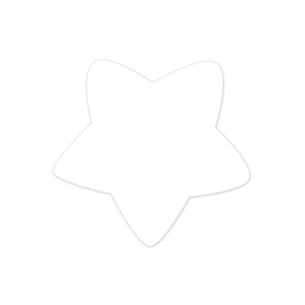 Motivperle Sternchen horizontal weiß