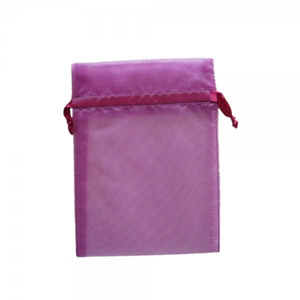 Organzasäckchen 15 x 10 cm violett