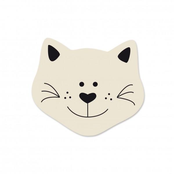 Angebot Motivperle Mini-Katze vertikal hellnatur/schwarz