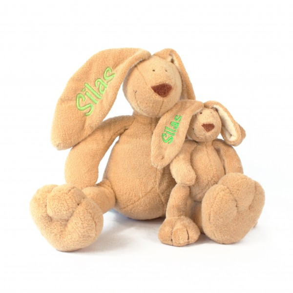 Hase und Minihase mit Wunschname (Modell Silas)