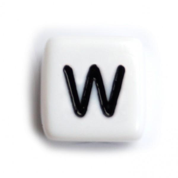 Kunststoffbuchstabenwürfel 10 mm einzeln W
