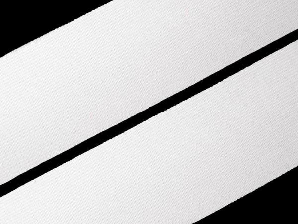 Gummiband glatt Breite 25 mm gewebt weiß