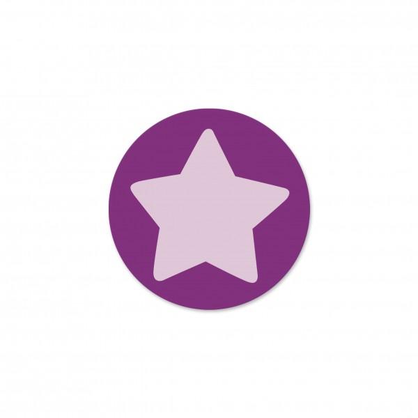 Ausverkauf Motivperle Sternchen-Scheibe horizontal purpur/pastellrosa