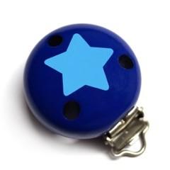 Motivclip II Stern marine/skyblau