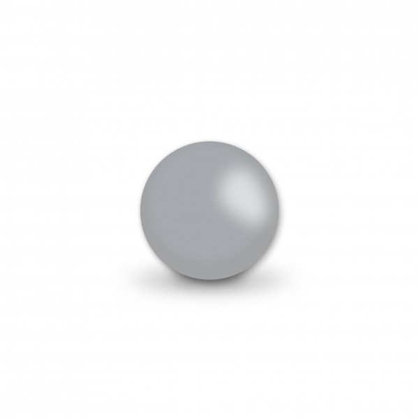 Uniperlen 10 mm hellgrau