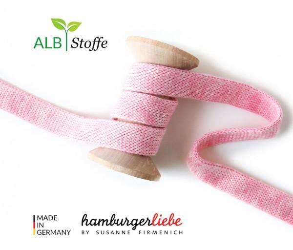 Hamburger Liebe Melange Hoodie Flachkordel rosa/meringa