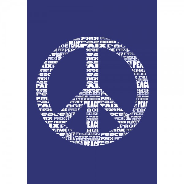 Schablone A4, Peace