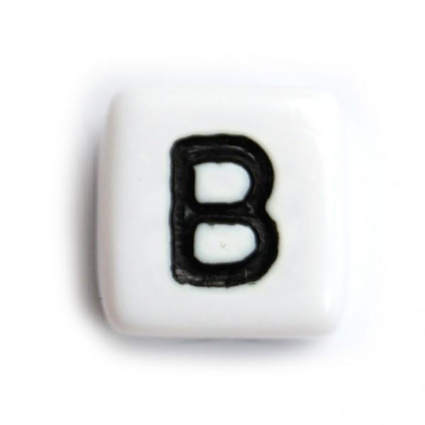 Kunststoffbuchstabenwürfel 10 mm einzeln B