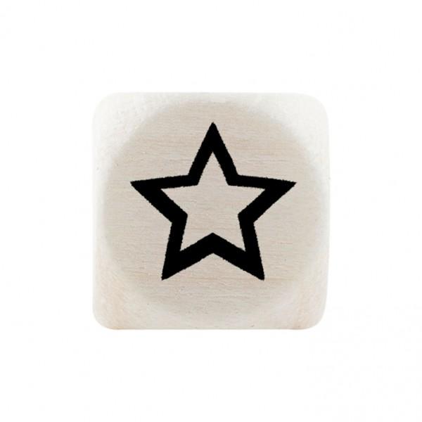 Premiumbuchstabe 10 mm schwarz Stern