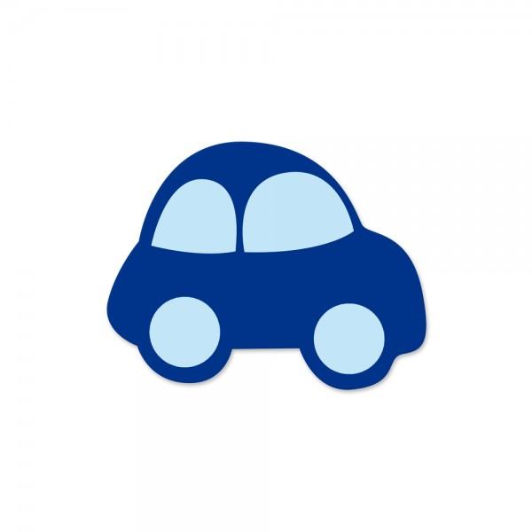 Motivperle Auto horizontal dunkelblau/babyblau