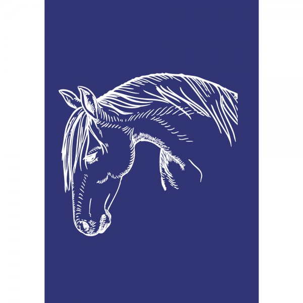 Schablone A4, Pferd
