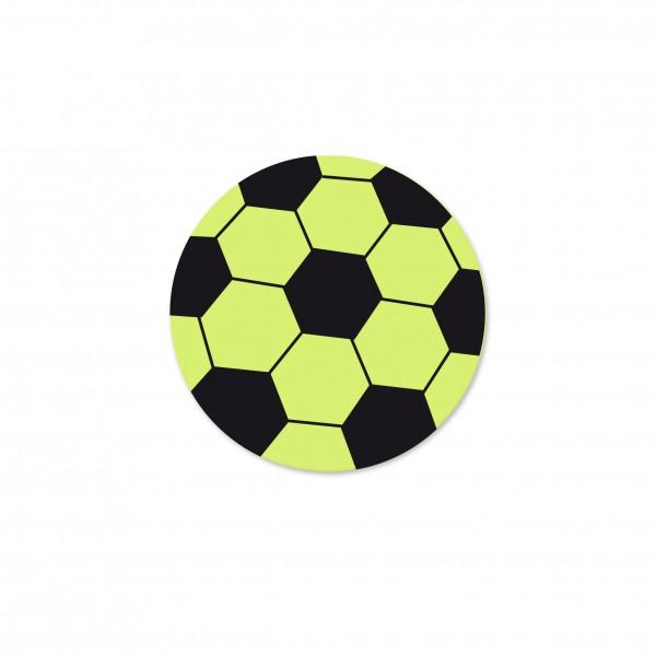 Angebot Motivperle Fussball horizontal lemon/schwarz