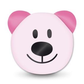 Angebot Motivperle 3D-Bär vertikal babyrosa/pink