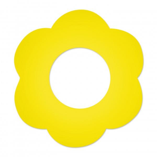 Ausverkauf Motivperle Blume gross horizontal gelb