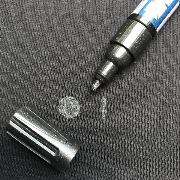 Textil-Marker deckend Glitter schwarz