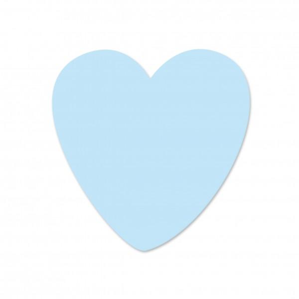 Ausverlauf Motivperle Herzchen vertikal babyblau