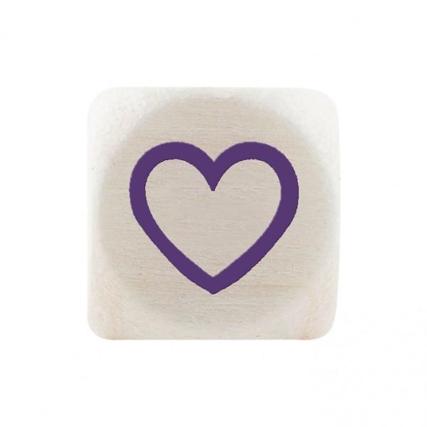 Angebot Premiumbuchstabe 10 mm lila Herz