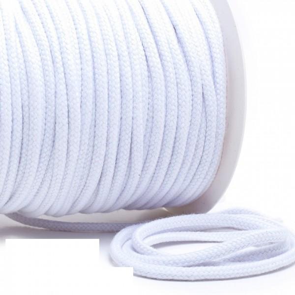 Kordel 100% Baumwolle 6 mm reinweiß