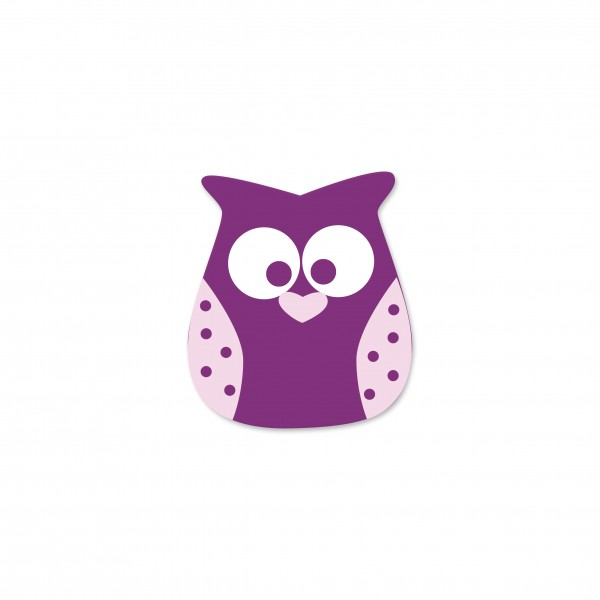 Angebot Motivperle Eule vertikal violett/babyrosa