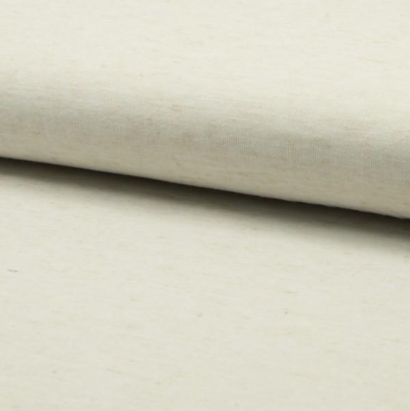 Leinenstrick ecru meliert mit zartem Glanzschimmer